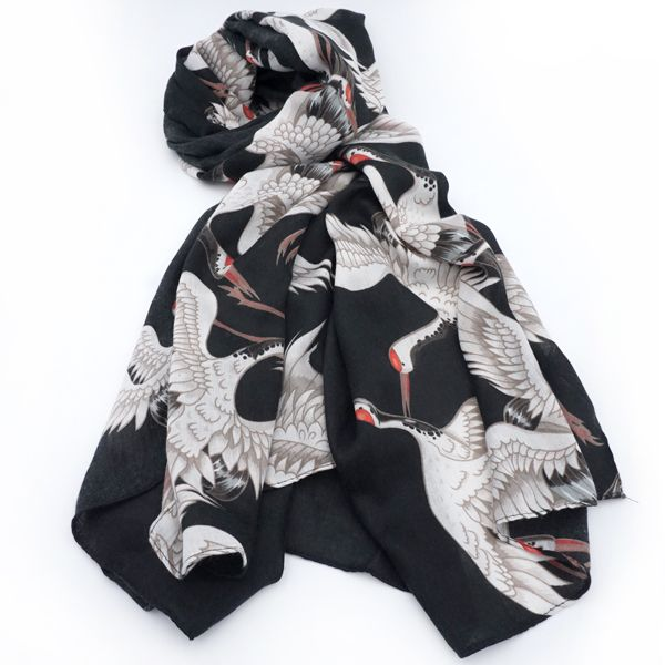 Crane and Plum Blossom Scarves