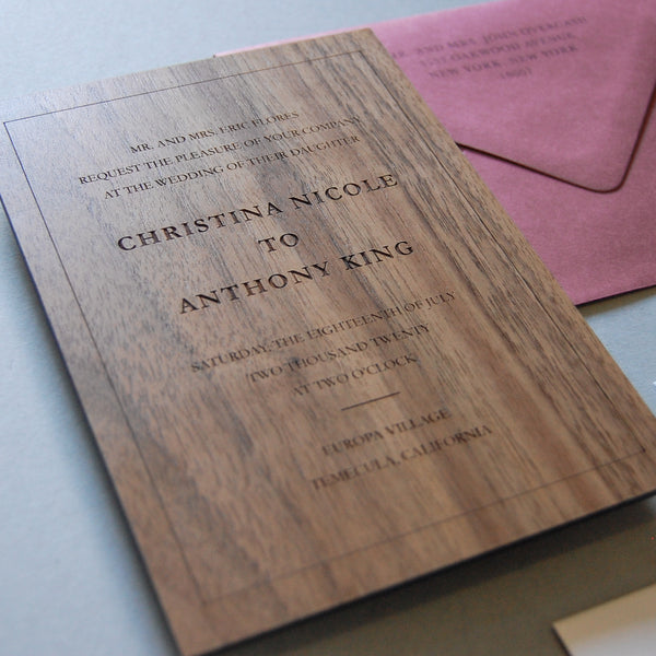 The Christina Semi-Custom Invitation Sample