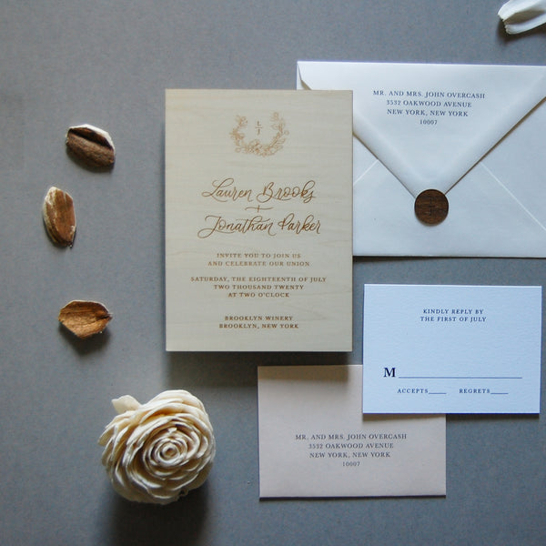 The Lauren Semi-Custom Invitation Sample