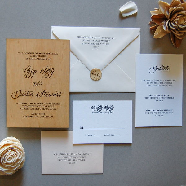 The Paige Semi-Custom Invitation Sample