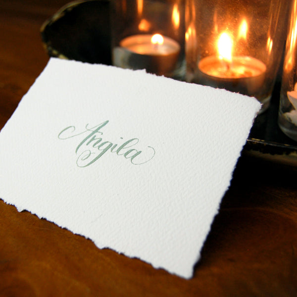 Deckle Edge Name Card