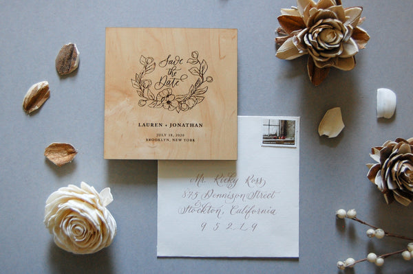The Lauren Semi-Custom Save The Date Sample