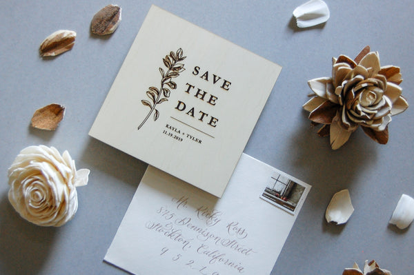 The Kayle Semi-Custom Save The Date Sample