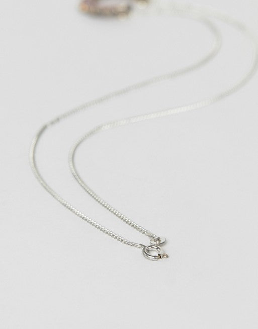 Fred Perry laurel wreath silver necklace