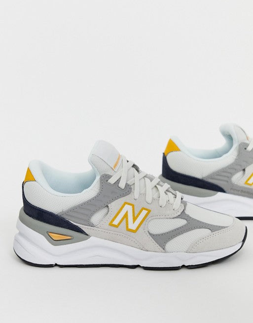 New Balance X90V1 Cream And Yellow Trainers