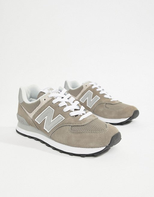 New Balance 574 Suede Trainers In Grey