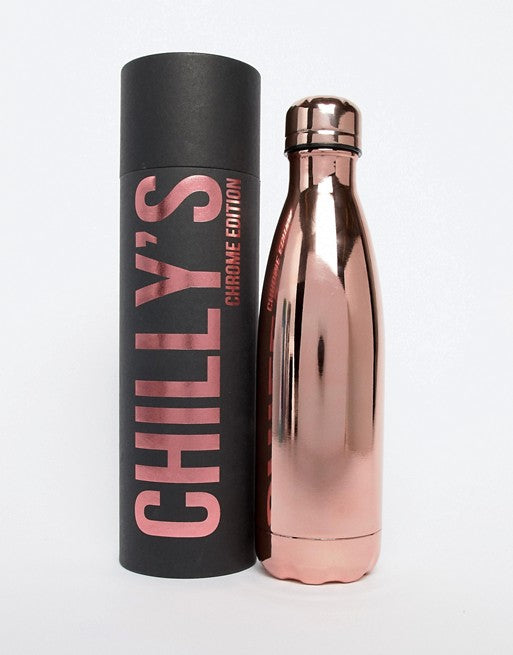 Chilly's rose gold water bottle 500ml