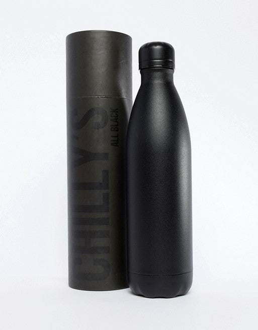 Chillys all black water bottle 750ml