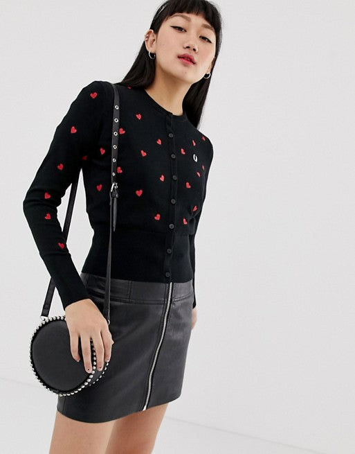 73874d24 Fred Perry amy winehouse foundation heartprint cardigan – The Full 24