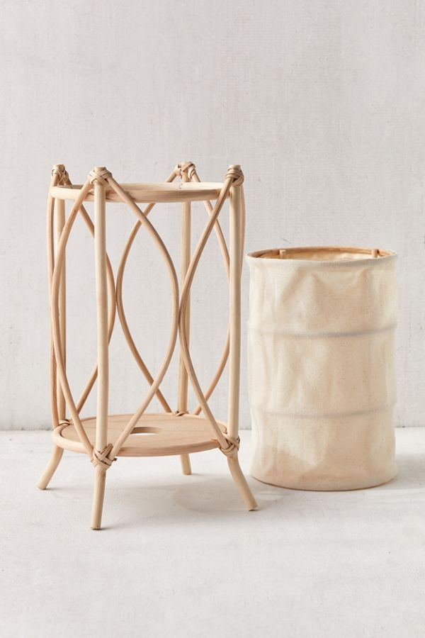 Rattan Lantern Table Lamp
