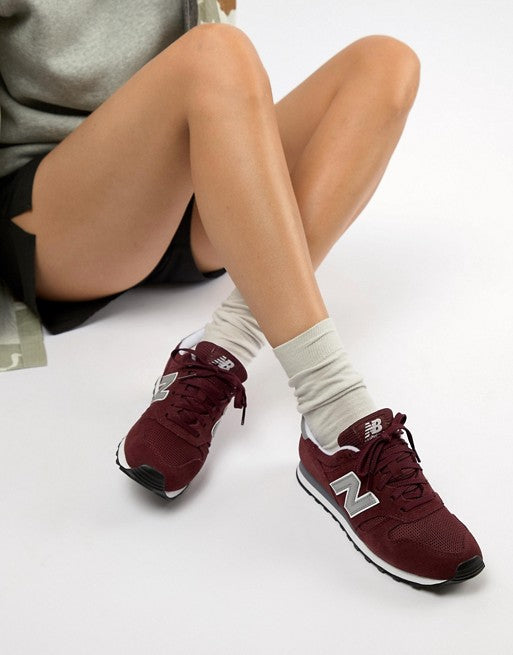 New Balance Burgundy Suede 373 Trainers