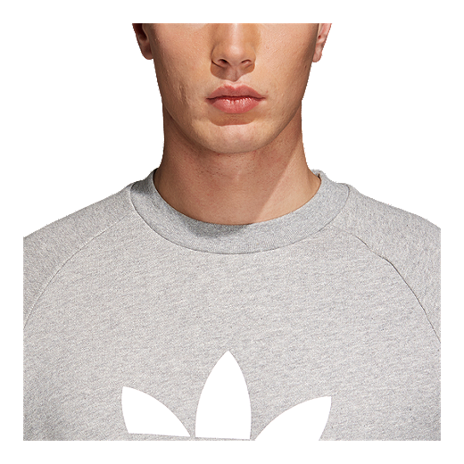 Originals Men's Trefoil Crew GREY  Sweatshirt