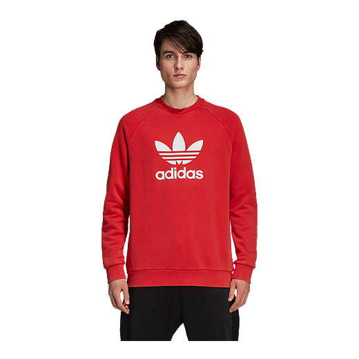 Originals Men's Trefoil Crew RED Sweatshirt