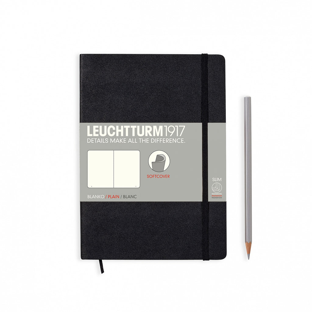 NOTEBOOK MEDIUM (A5), SOFTCOVER, 121 NUMBERED PAGES