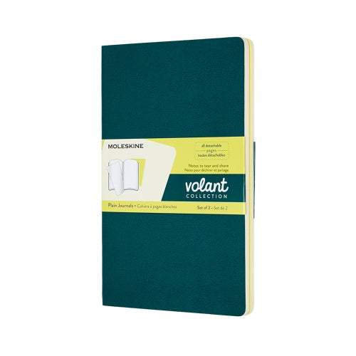 VOLANT JOURNALS ORANGE GREEN AND BLUE