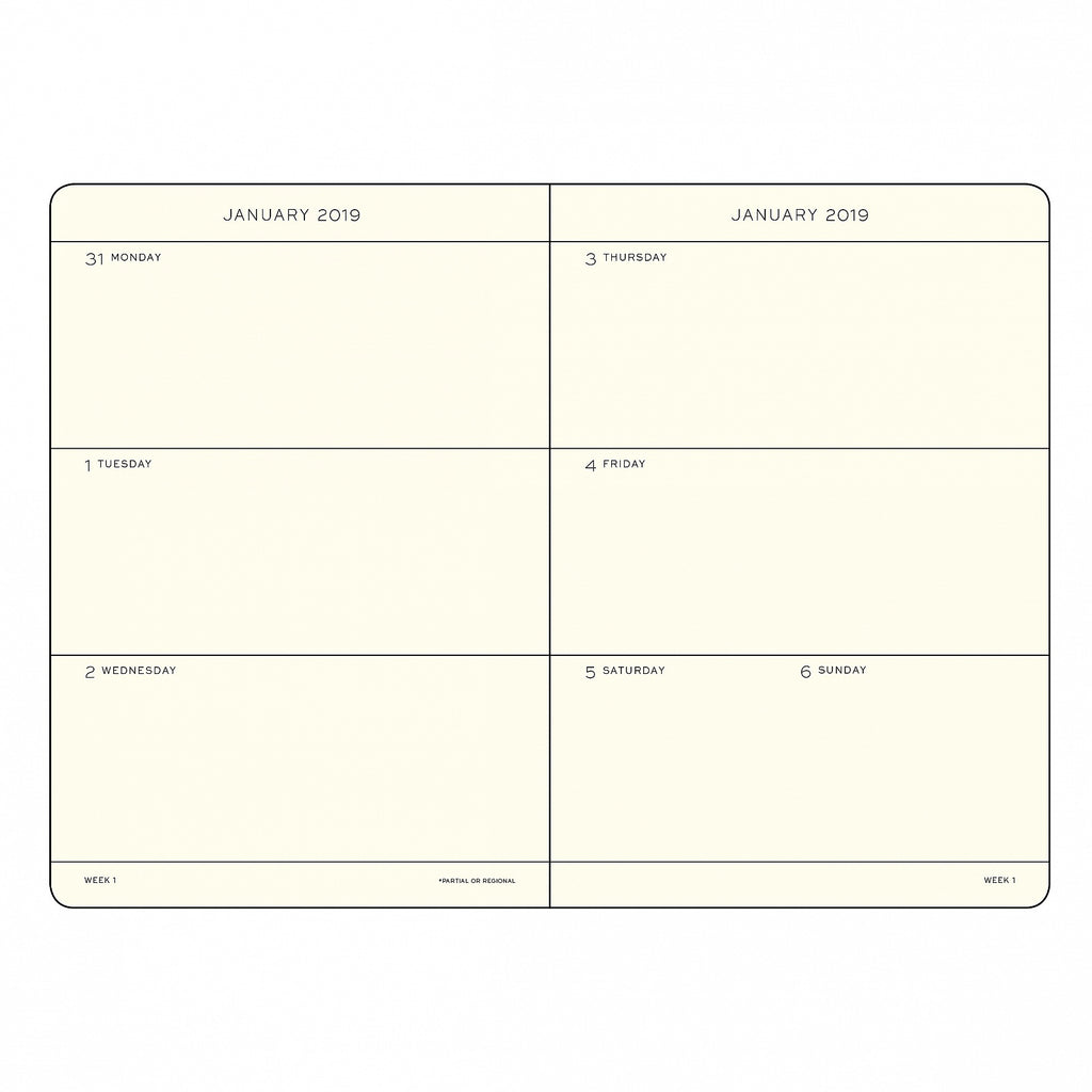WEEKLY PLANNER 2019 WITH EXTRA BOOKLET FOR ANNIVERSARIES AND ADDRESSES, ENGLISH