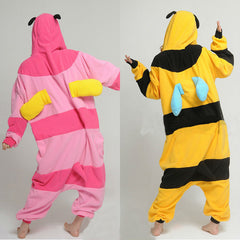 pink and yellow bee onesie for adults