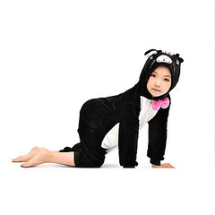 Kids Black Cat Kigurumi Onesie