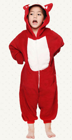 Red Fox Kids Kigurumi Onesie