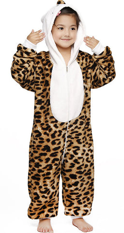 Leopard Hello Kitty Kids Kigurumi