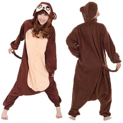 Monkey (Brown/Orange) Kigurumi Onesie