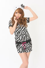 Summer Zebra Hello Kitty Kigurumi