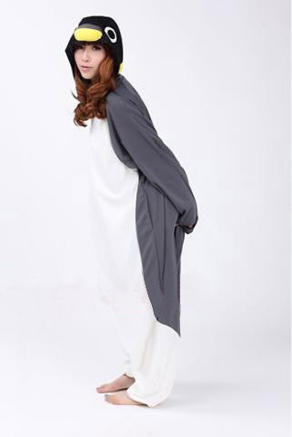 Penguin Kigurumi Onesie (Black/Grey)