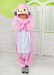 pink sheep kigurumi pajama onesie fleece