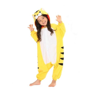 Tiger (Yellow/White) Kids Kigurumi Onesie