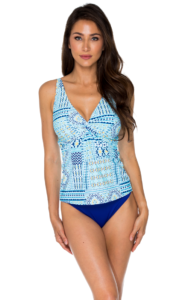 Dazzling Graphic Printed Tankini Top