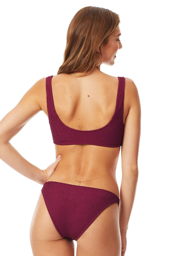 Tori Praver Wineberry Penelope Pucker Bralette Top