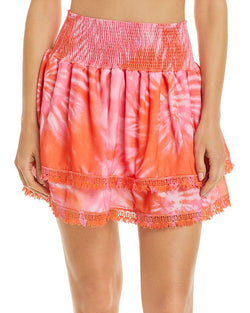 Peixoto Grapefruit Tie Dye Belle Skirt