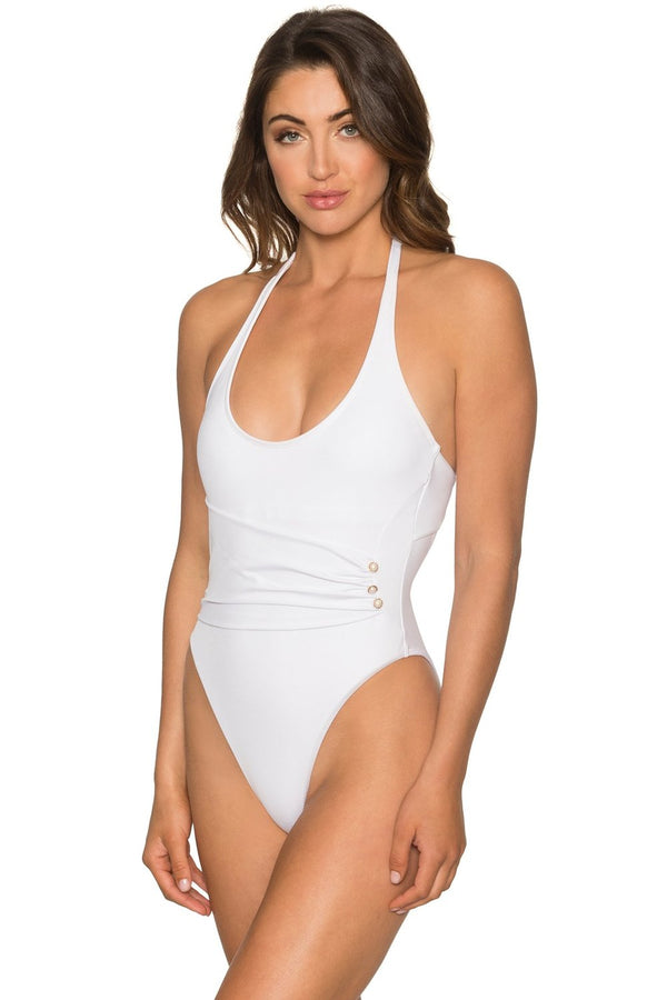 Aerin Rose White Opal Calypso One Piece