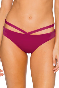 Sunsets Pink Poppy Stella Strappy Hipster Bottom