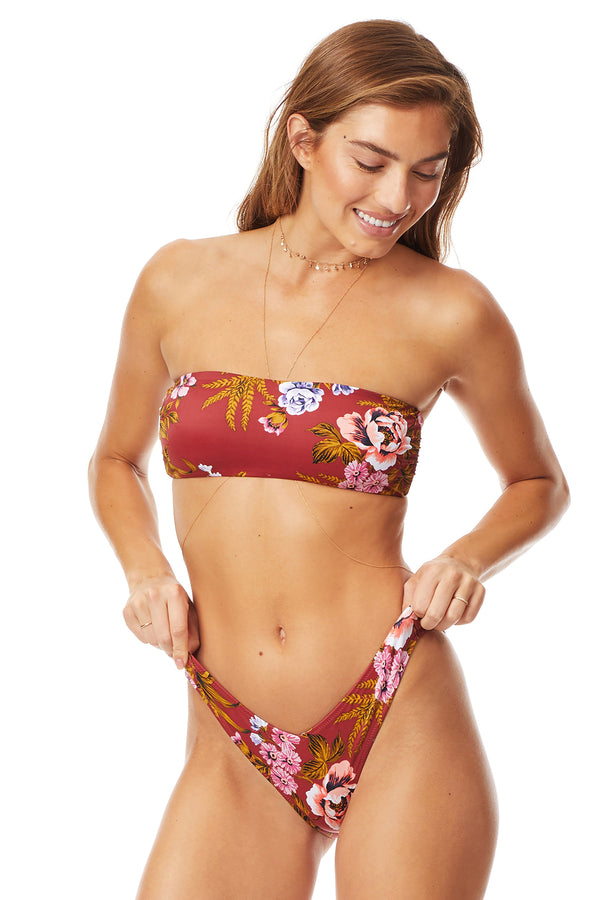 Tori Praver Red Rock Royale Bandeau Top