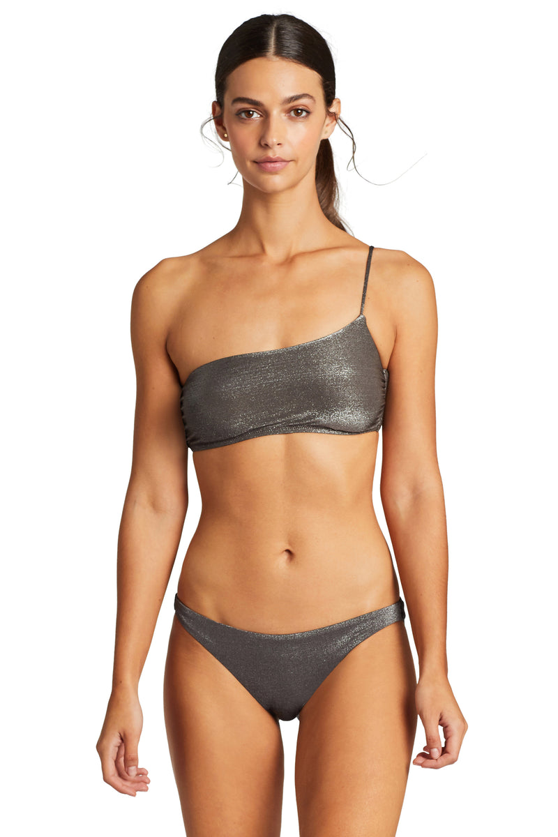 Vitamin A Graphite Metallic Luciana Full Coverage Bottom