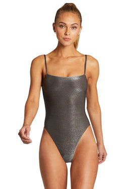 Vitamin A Graphite Metallic Jenna Bodysuit One Piece