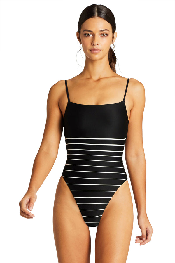 Vitamin A Midnight Stripe Jenna Bodysuit One Piece