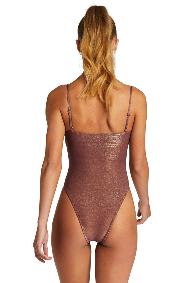 Vitamin A Supernatural Metallic Jenna Bodysuit One Piece