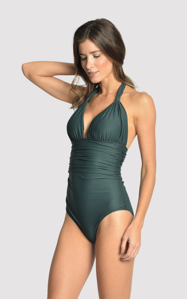 LENNY NIEMEYER ATLANTIC DELHI ADJUSTABLE HALTER ONE PIECE SWIMSUIT
