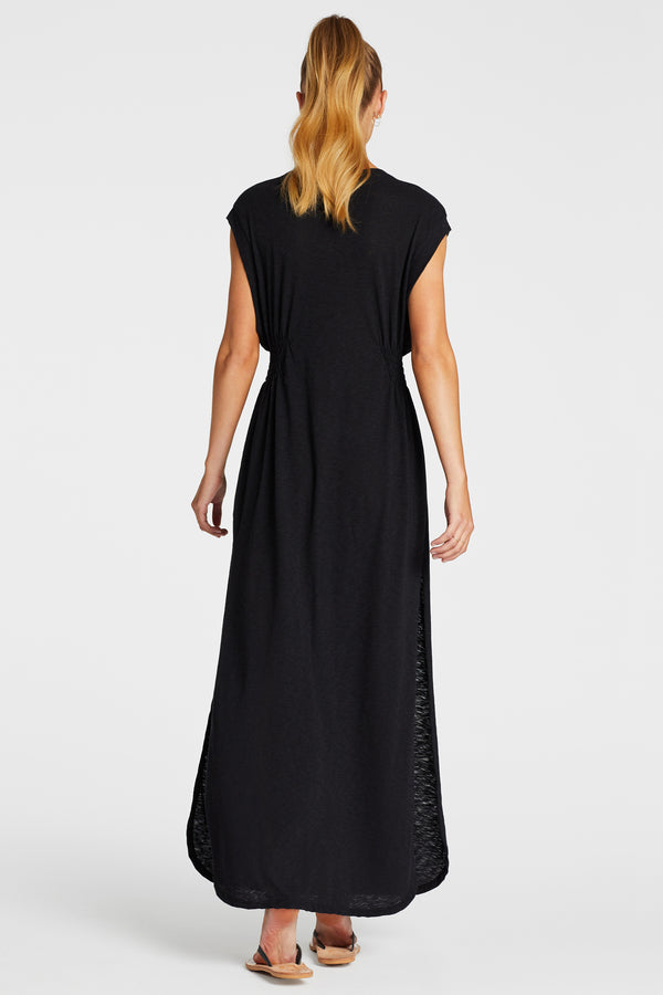 Vitamin A Black EcoCotton Florence Dress