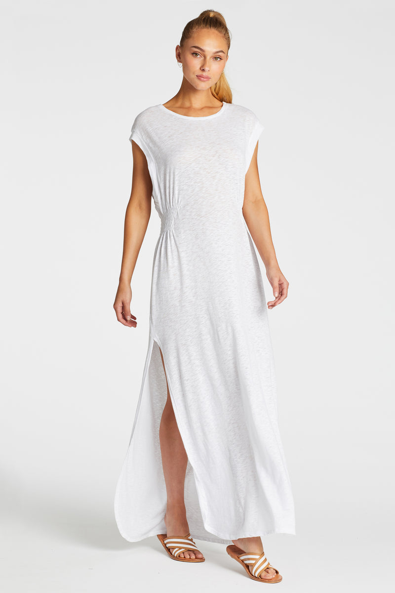 Vitamin A White EcoCotton Florence Dress