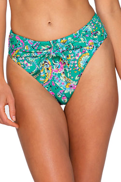SUNSETS PARADISE PAISLEY TESSA TIE HIGH RISE BOTTOM