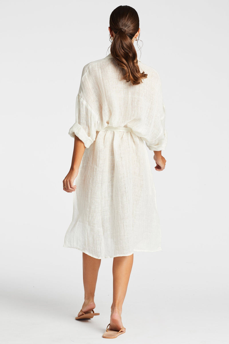 Vitamin A Lumiere Stripe Riviera Shirtdress