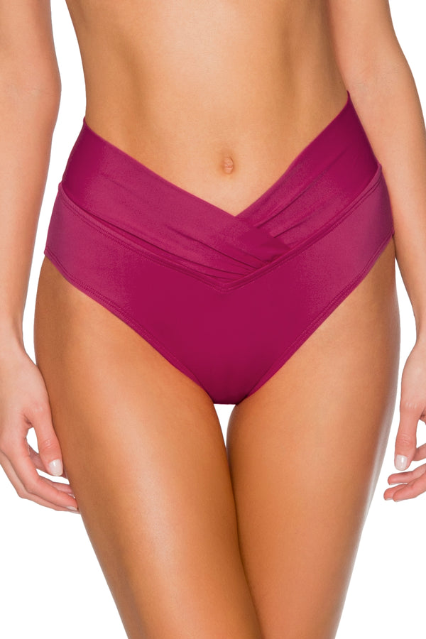 Sunsets Pink Poppy Summer Lovin V Front Bottom