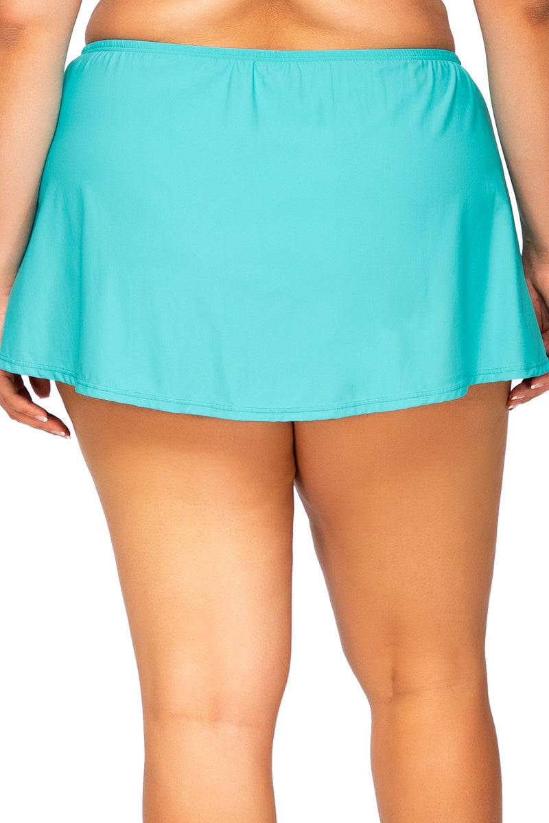 Sunsets Escape Seaside Aqua Island Time Swim Skirt