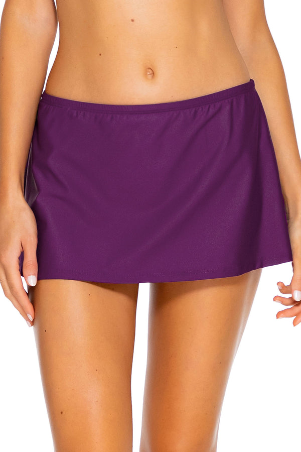 Sunsets Deep Plum Kokomo Swim Skirt Bottom