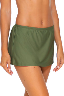 Sunsets Olive Kokomo Swim Skirt Bottom
