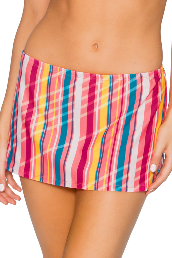 Sunsets Bungalow Stripe Kokomo Swim Skirt Bottom