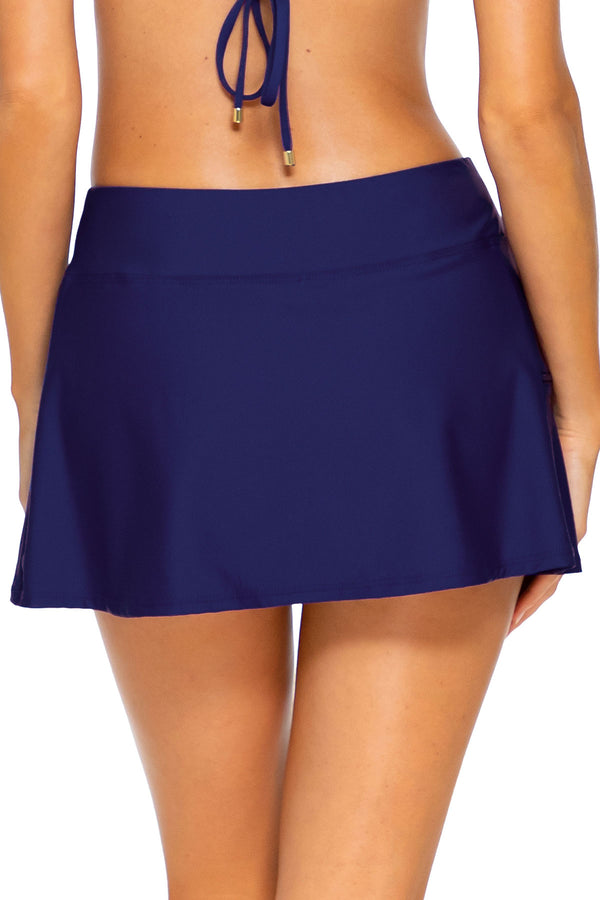 Sunsets Indigo Sporty Swim Skirt Bottom